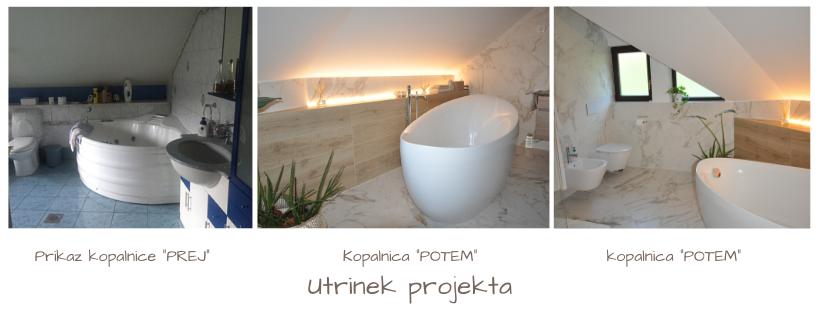 Prenova kopalnice - prej in potem