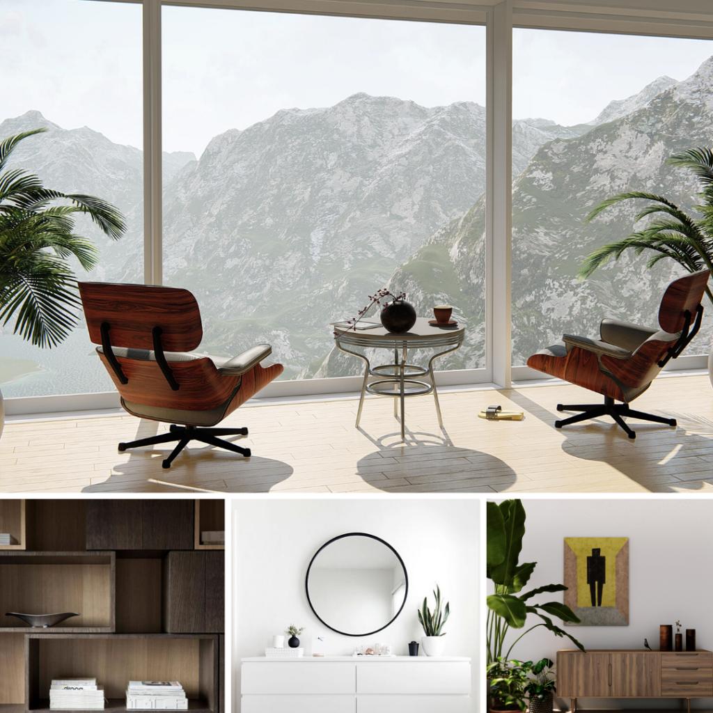 Primeri različnih slogov notranjega oblikovanja