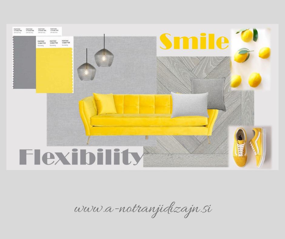 """Barvna shema z barvama leta 2021 - """"Smile + Flexibility = Smileability"""""""